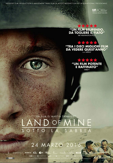 land of mine sotto la sabbia recensione i film da vedere assolutamente film belli e film consigliati 2015 Oscar 2017 miglior film straniero