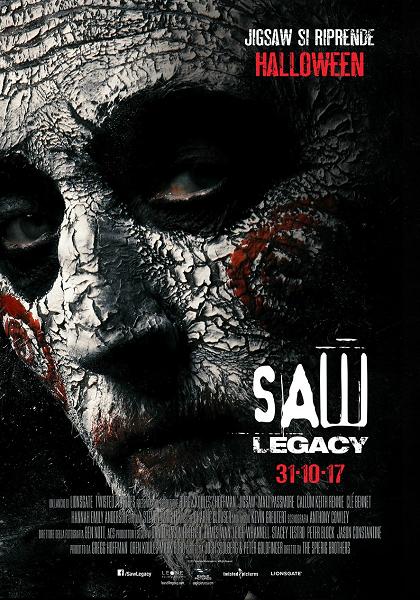 saw legacy 8 VIII film da vedere 2017 horror jigsaw locandina italiana halloween