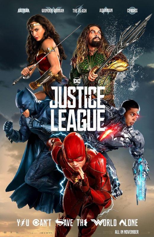 Justice League film da vedere 2017 al cinema Zack Snyder locandina
