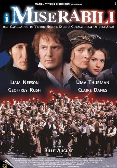 i miserabili victor hugo film da vedere 1998 locandina italiana