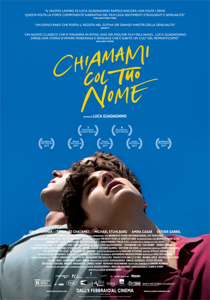 chiamami col tuo nome call me by your name luca guadagnino film da vedere 2017 2018 cinema locandina italiana