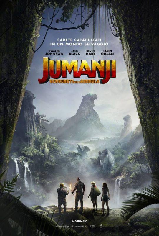 jumanji benvenuti nell giungla film da vedere 2017 2018 locandina italiana