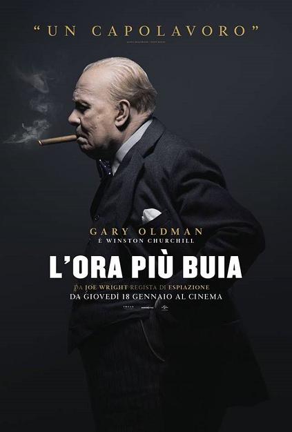 l'ora più buia the darkest hour gary oldman winston churchill locandina poster italian