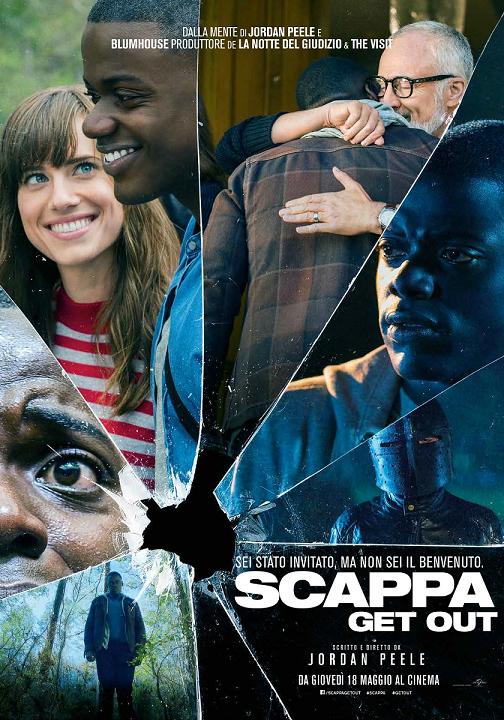 scappa get out film da vedere 2017 2018 locandina italiana midnight factory oscar miglior sceneggiatura attore protagonista regia