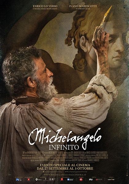 Michelangelo Infinito film da vedere 2018 locandina italiana Buonarroti Vasari documentario