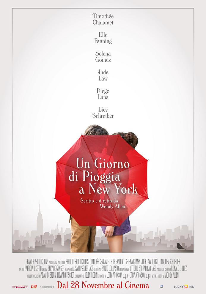 Un giorno di pioggia a New York woody allen film da vedere 2019 locandina italiana