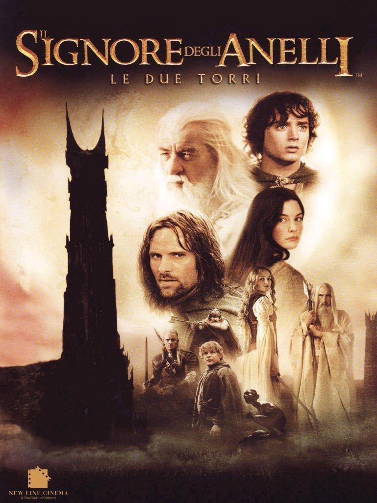 il signore degli anelli le due torri film da vedere 2002 locandina italiana